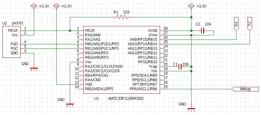 PICマイコンでDMA転送によるUART受信
