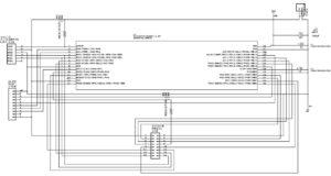 OV7670とOLEDを制御するPIC24FJ64GA002の回路図