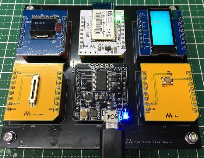 mikroBUS6機搭載した時の例